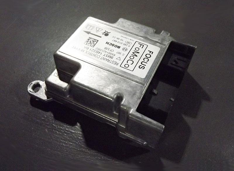 Airbag module crash data reset